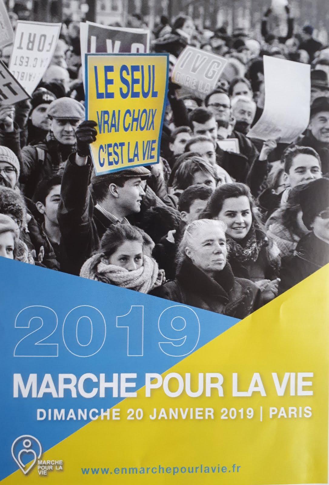 Marche pour la vie > Le 20 Janvier 2019 à Paris